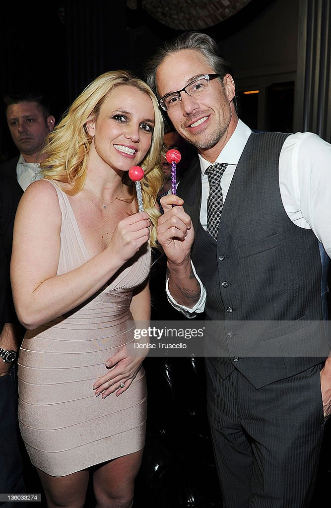 Newly Engaged Britney Spears Celebrates 40th Birthday Of Her Fiance, Jason Trawick, At Sugar Factory American Brasserie And Chateau Nightclub & Gardens At Paris Las Vegas : News Photo