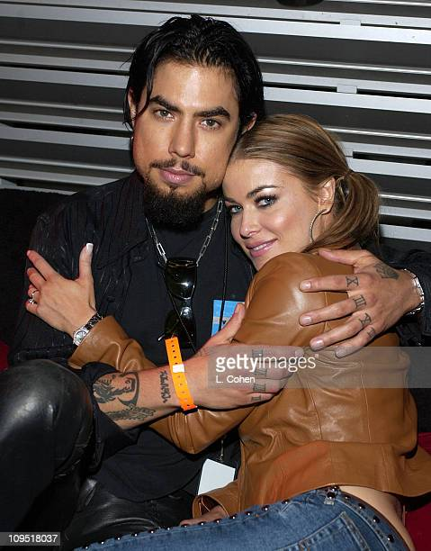 Newly Engaged Dave Navarro & Carmen Electra during Celebrities at Radiohead Post - Concert Party at Hollywood Bowl in Hollywood, California, United...