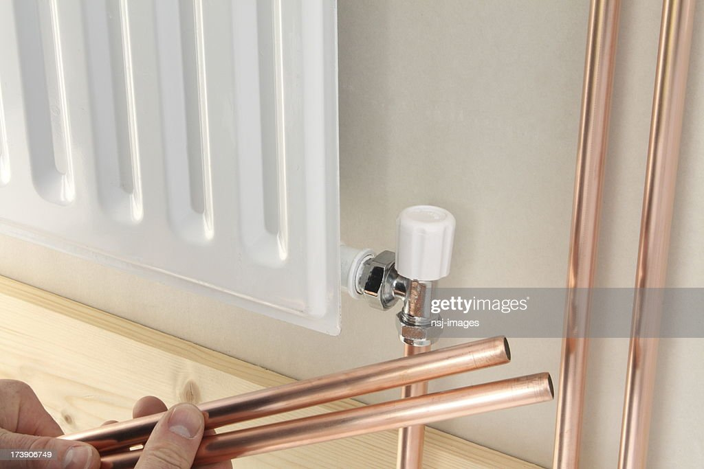 Newly Installed Central Heating Radiator Stock Photo | Getty Images