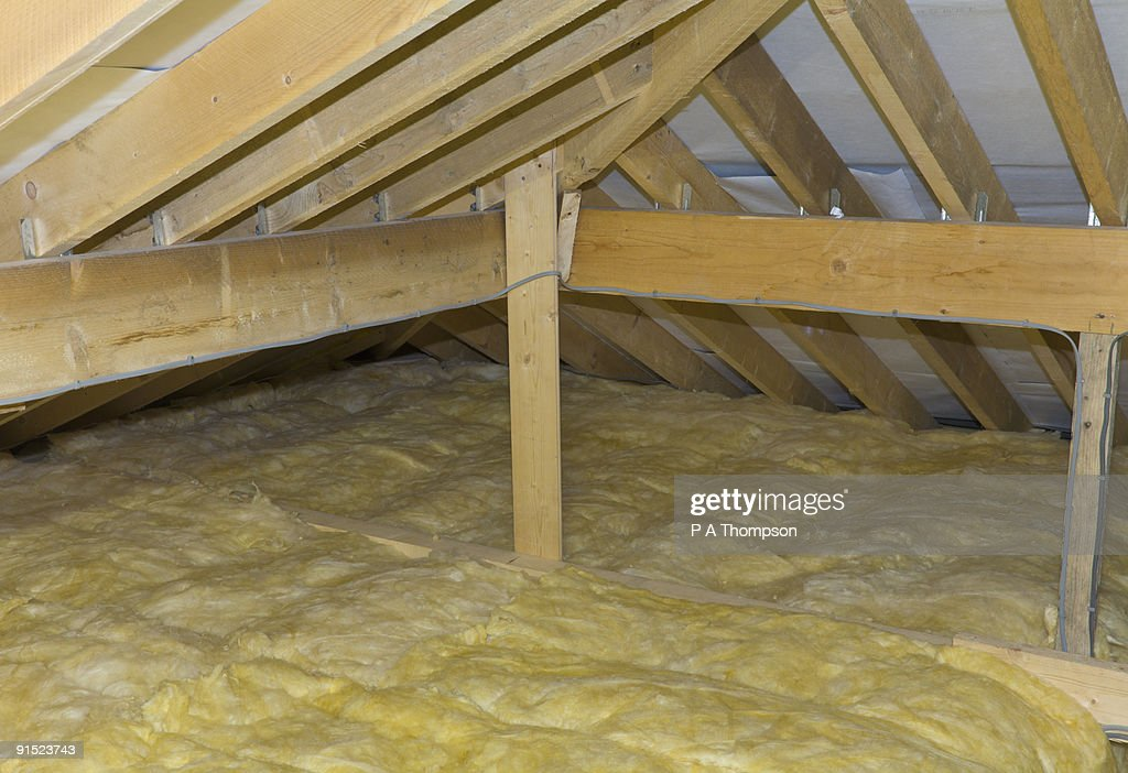 newly insulated loft : Stock Photo