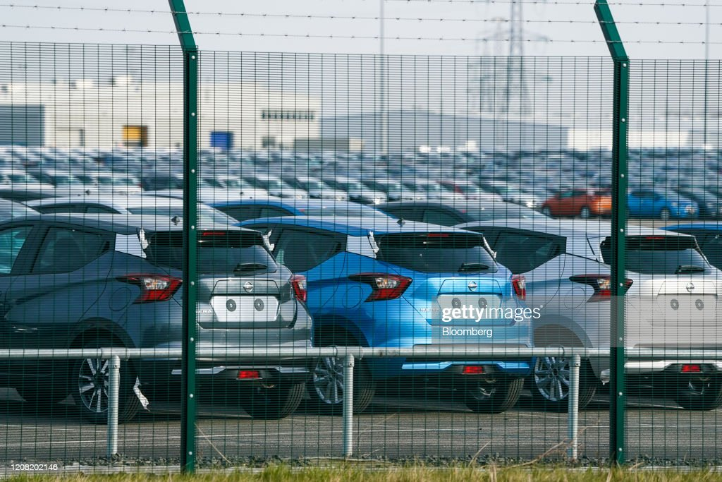 Nissan Motor Co. Suspends Production At Its U.K. Factory : News Photo