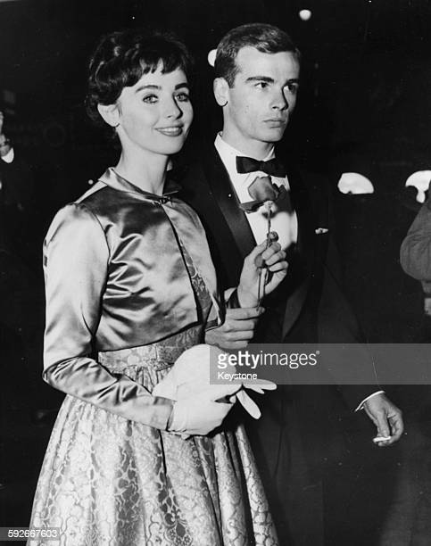 Newly married actors Millie Perkins and Dean Stockwell attending one their first events as husband and wife April 21st 1960