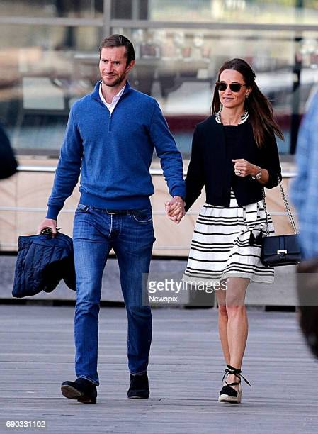 SYDNEY NSW Newly married couple Pippa Middleton and James Matthews enjoying stroll while on their honeymoon in Sydney New South Wales