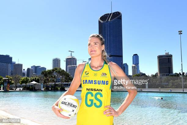 Newly named captain Caitlin Bassett poses for a photo during a media opportunity announcing the Australia Diamonds captain for the upcoming Quad...