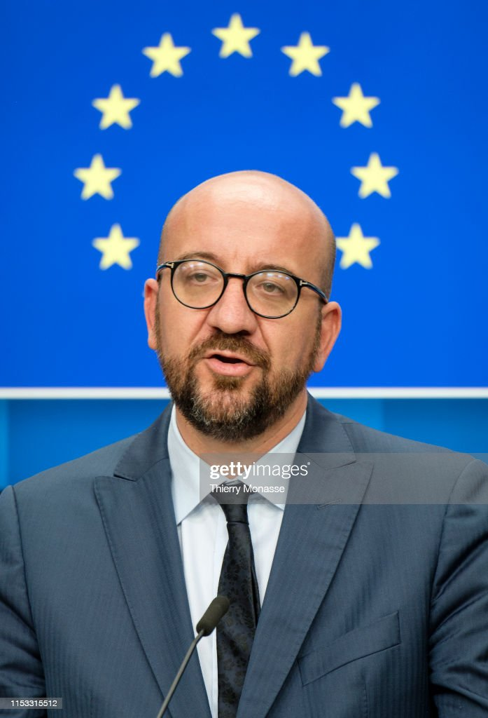 The New President of the European Council Charles Michel : News Photo
