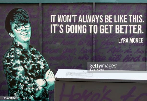 A newly painted mural featuring murdered journalist Lyra McKee whose death sparked a new round of political talks chaired by the British and Irish...