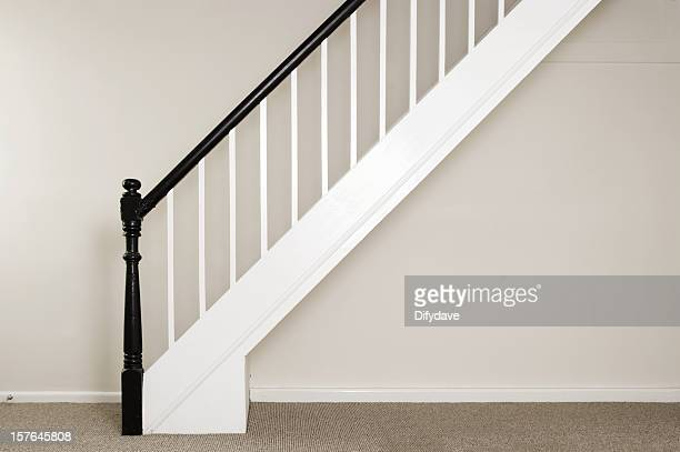 Newly Painted Staircase and Bannisters In A Cottage