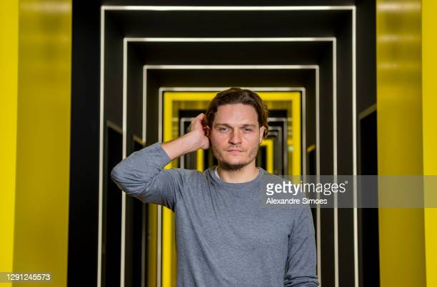 Newly promoted head coach Edin Terzic of Borussia Dortmund attends a press conference at the Borussia Dortmund training ground on December 14, 2020...