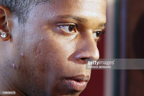 Newly recruited Brazilian Andre Felipe Ribeiro de Souza aka Andre is pictured during a press conference on January 31 2011 at Bordeaux football...