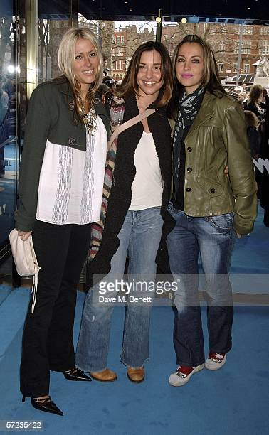 Newly reformed All Saints Nicole Appleton Melanie Blatt and Natalie Appleton arrive at the UK Premiere of 'Ice Age 2 The Meltdown' at the Empire...