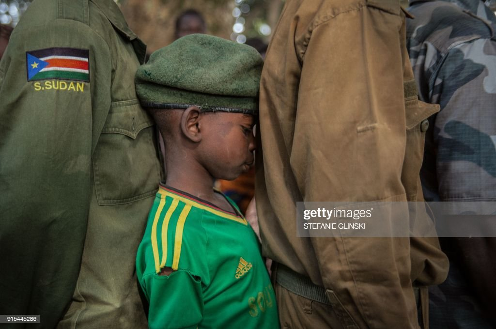 TOPSHOT-SSUDAN-CONFLICT-CHILDREN : News Photo