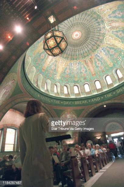 Newly renovated chapel at Lakewood cemetery Singer Angela Malek gave a concert at the chapel at 2 pm At one point she led visitors in a song