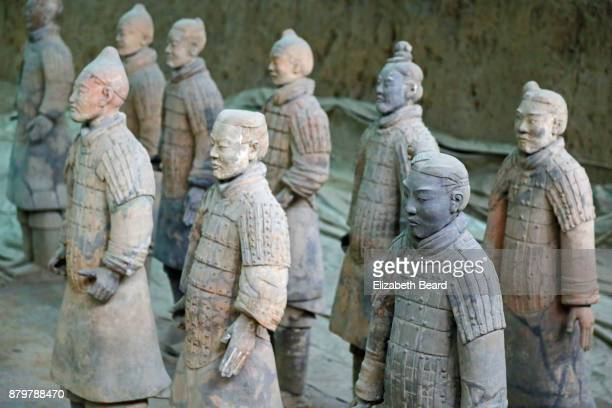 Newly restored terra cotta warriors, Xian