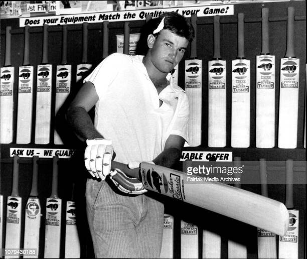 Newly selected player in the NSW cricket team Scott HookeyPhoto taken at Kingsgrove February 29 1988
