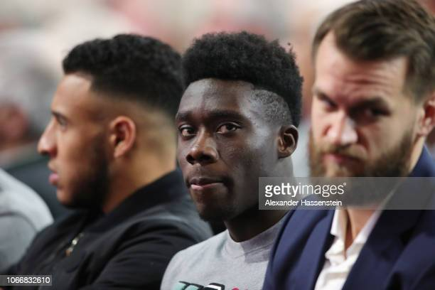 Newly signed player Alphonso Davies attends the FC Bayern Muenchen Annual General Assembly at AudiDome on November 30 2018 in Munich Germany