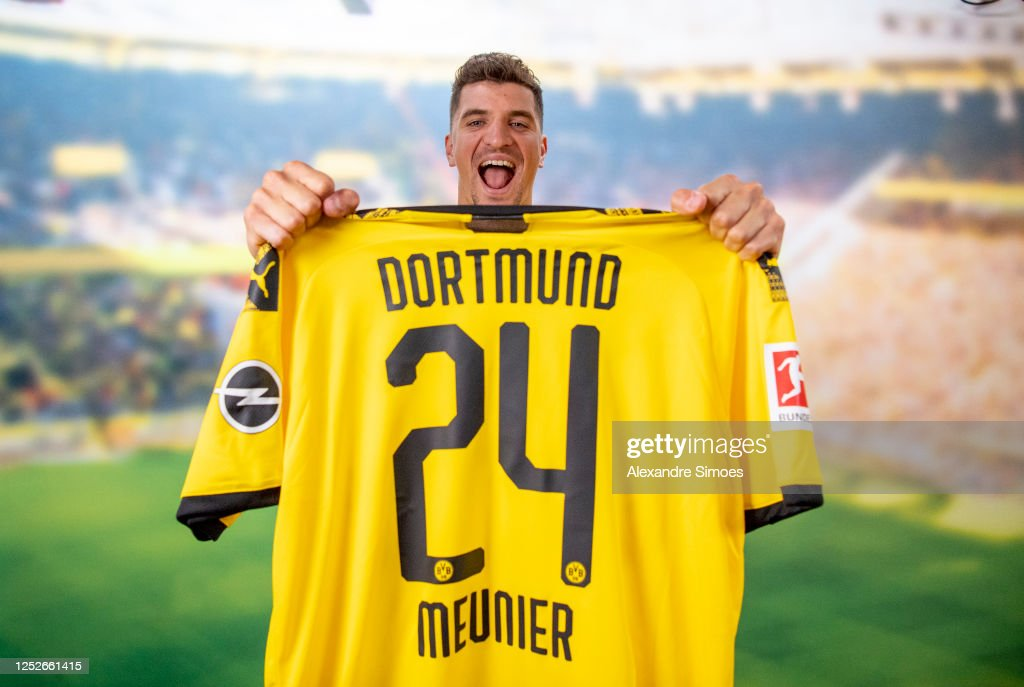 Borussia Dortmund Unveils New Signing Thomas Meunier : News Photo
