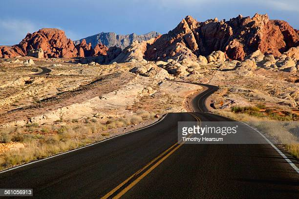 Newly surfaced road through red rock country