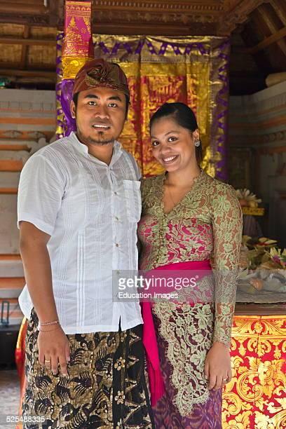 A Newly Wed Balinese Couple Ubud Bali Indonesia