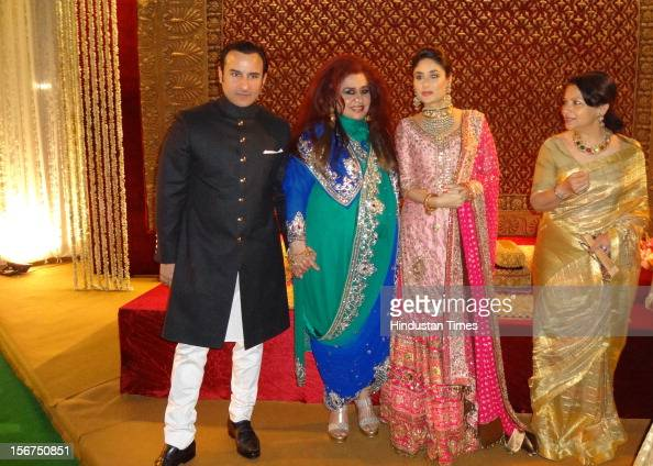 saifkareena wedding reception pictures getty images