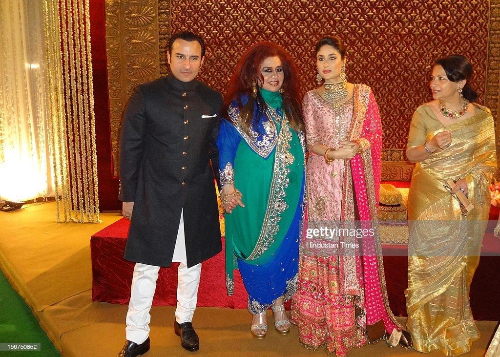 Saif Kareena Wedding Reception Pictures