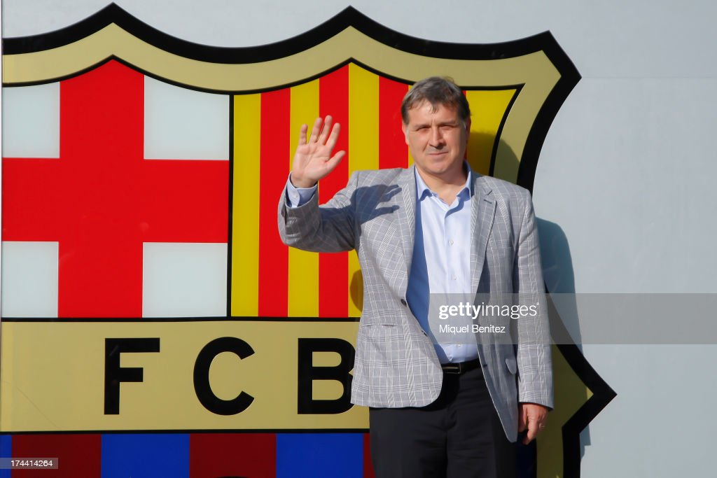 Gerardo Martino New Barcelona Manager Press Conference and Photo Call
