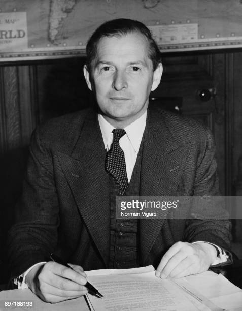 Newlyappointed British Minister of State for Foreign Affairs Selwyn Lloyd at his desk at the Foreign Office in Westminster London October 1951