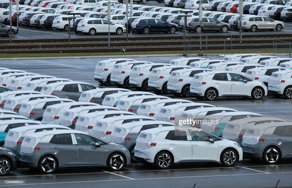 Volkswagen Revs Up ID.3 Electric Car Production At Zwickau Plant : News Photo