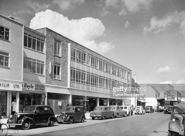 A newlybuilt office block and shopping arcade in Hemel Hempstead Hertfordshire 29th August 1956