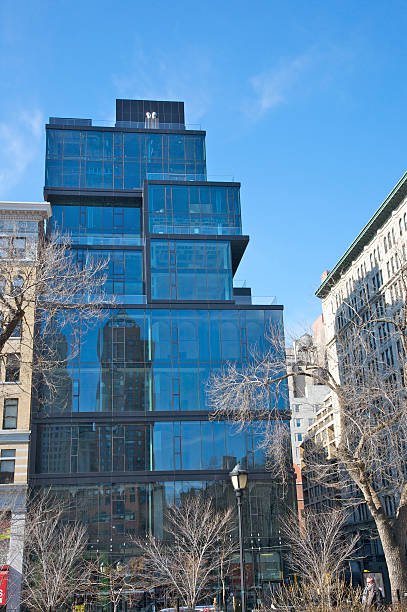 Newly-constructed modern building, 15 Union Square, condo apartments, New York City, NY, USA