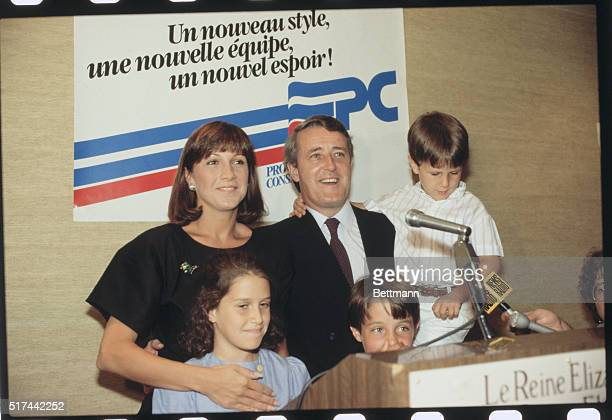 Newlyelected Canadian Prime Minister Brian Mulroney with his wife Mila and his kids