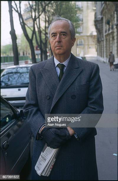 Newlyelected French prime minister Edouard Balladur appears on the streets of Paris during the second round of the 1993 legislative elections |...