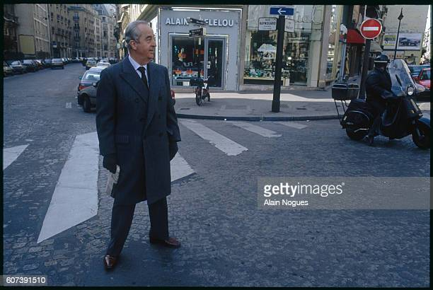 Newlyelected French prime minister Edouard Balladur walks along the streets of Paris during the second round of the 1993 legislative elections |...