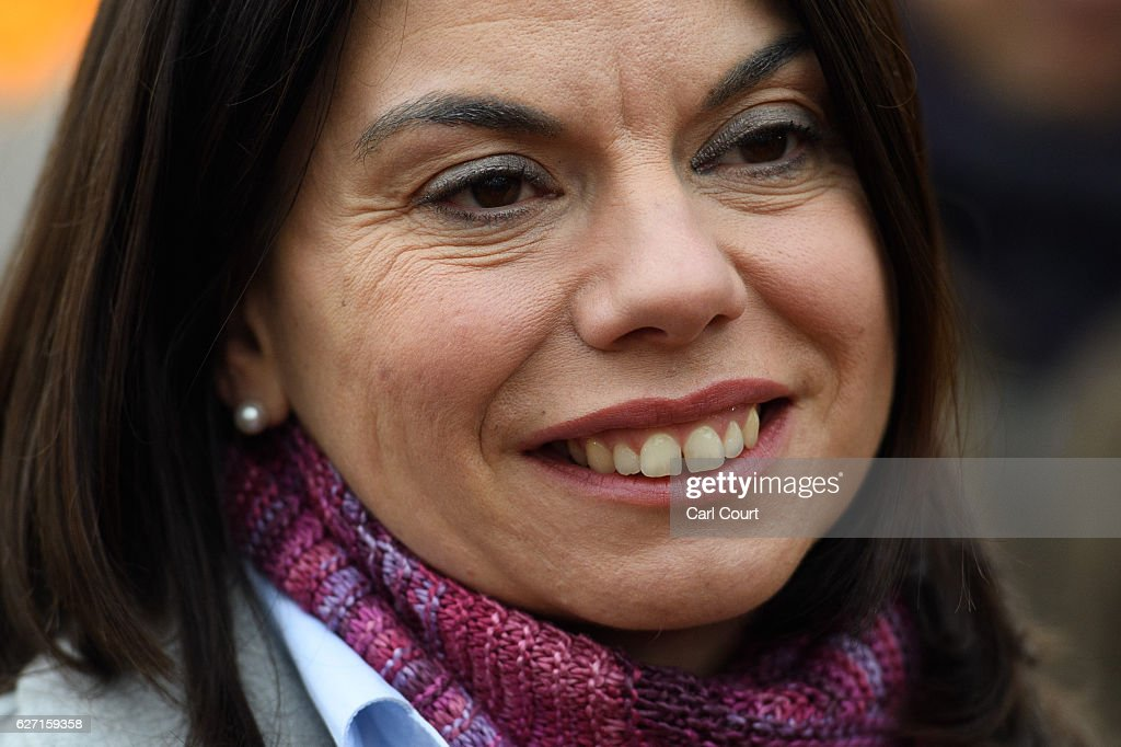 Newly-elected Liberal Democrat MP Sarah Olney speaks to the media following her victory in the Richmond Park by-election on December 2, 2016 in London, England. The Liberal Democrats caused a major upset in the Richmond Park by-election after ousting ex-Tory MP Zac Goldsmith who resigned his seat in protest at Heathrow airport expansion.