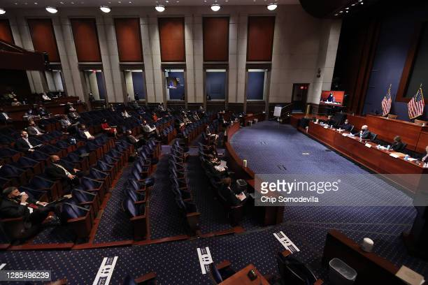 Newly-elected members of the U.S. House of Representatives attend a briefing by current chiefs of staff during orientation in the U.S. Capitol...