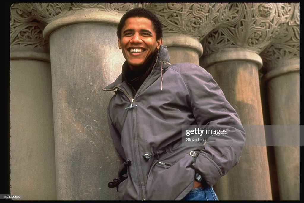 Newly-elected pres. of HARVARD LAW REVIEW, law student, & former community program dir. Barack Obama.