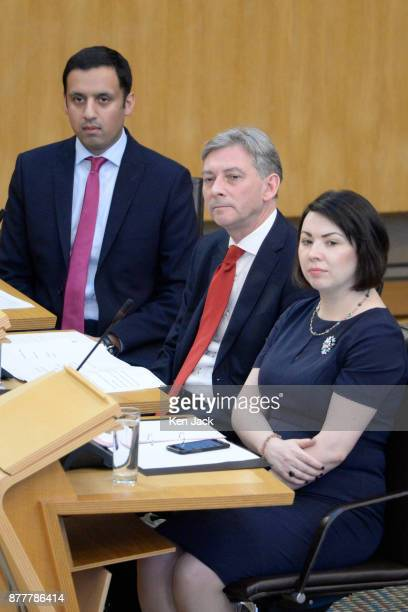 Newlyelected Scottish Labour leader Richard Leonard at First Minister's Questions in the Scottish Parliament for the first time since he was elected...