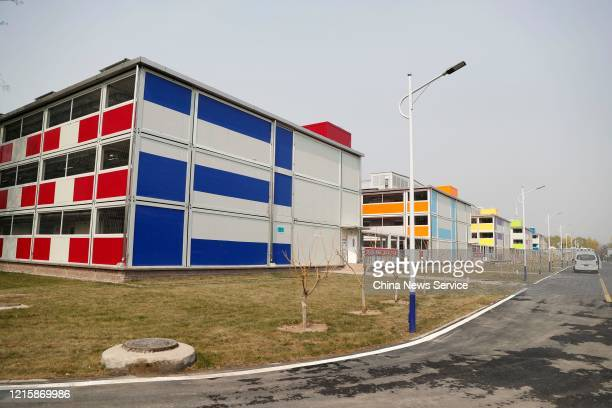 Newlyrenovated wards are seen at Xiaotangshan Hospital on March 30 2020 in Beijing China Xiaotangshan Hospital which was built to treat SARS patients...