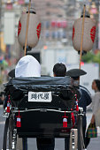 morning telephoto view shows newlywed japanese