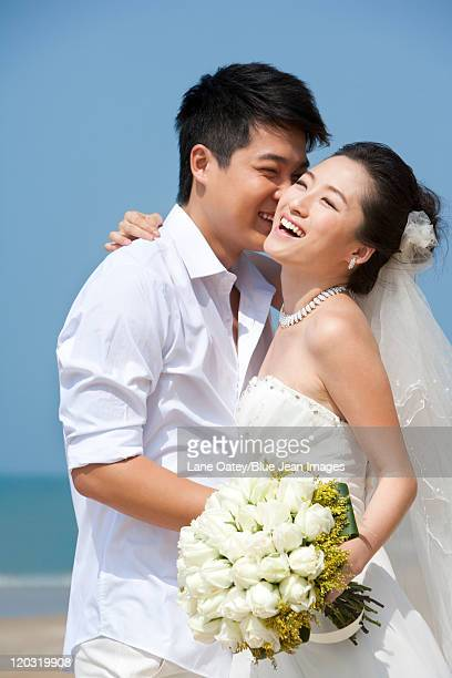 Newlywed Couple on the Beach