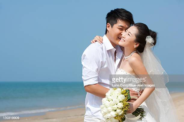 Newlywed Couple on the Beach