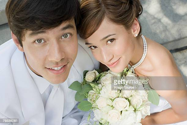 newlywed couple - newlywed stock pictures, royalty-free photos & images