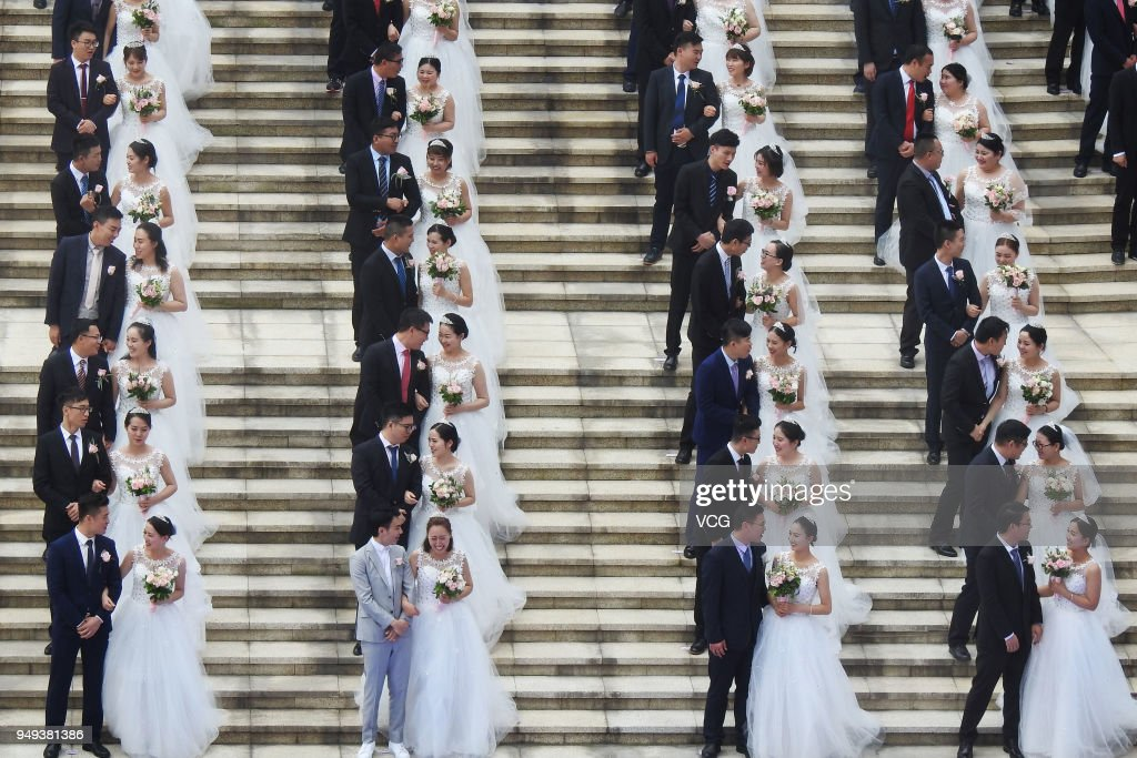 108 Newly-weds Attend Group Wedding Ceremony In Hangzhou