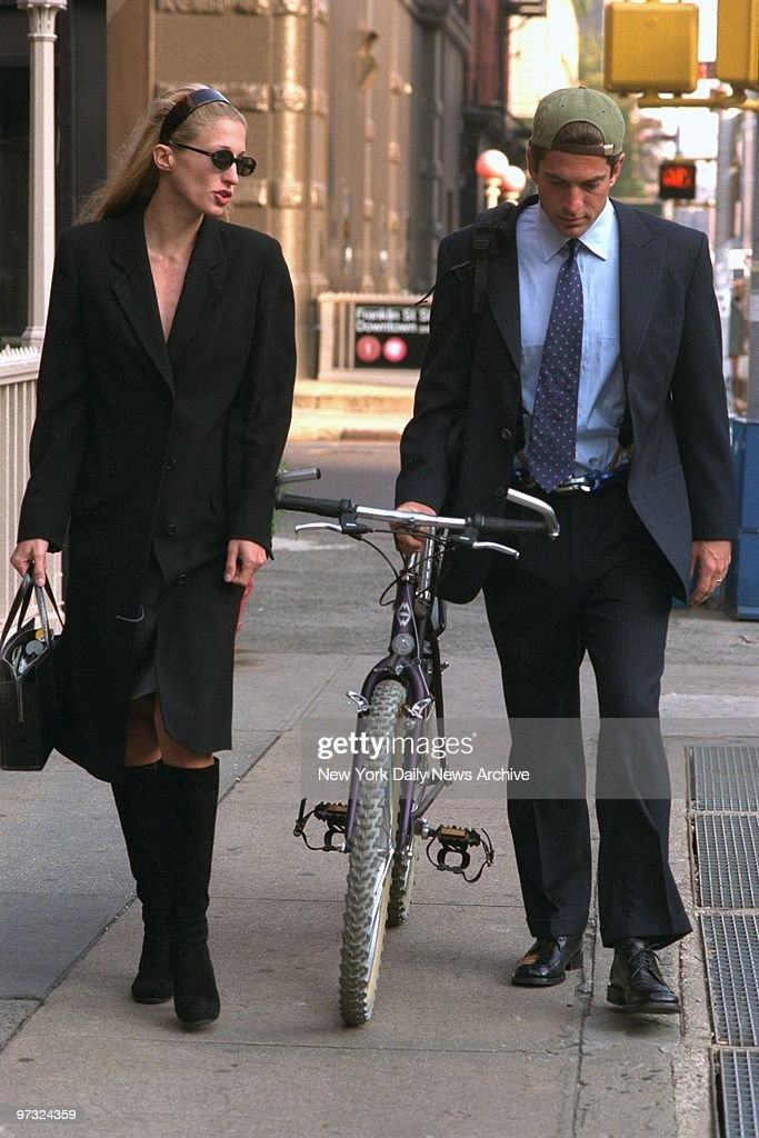 Newlyweds Carolyn Bessette Kennedy And John F Jr Walk Along Varick Street In