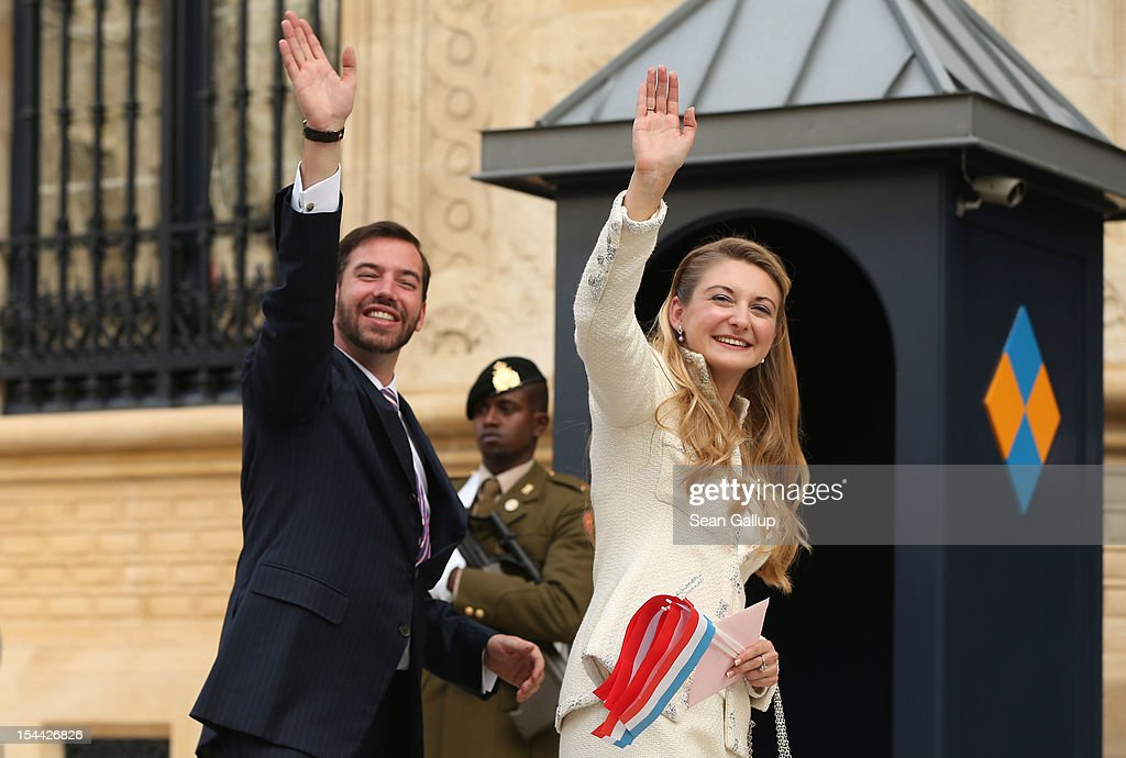 The Wedding Of Prince Guillaume Of Luxembourg & Stephanie de Lannoy - Civil Ceremony : Nieuwsfoto's