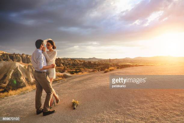 Newlyweds in Cappadocia, Turkey