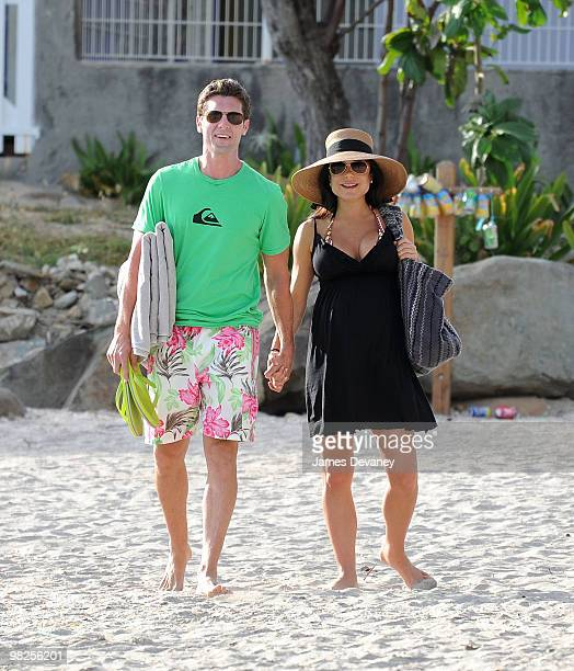 Newlyweds Jason Hoppy and Bethenny Frankel spend their honeymoon in St Barthelemy on April 3 2010 in Gustavia Guadeloupe