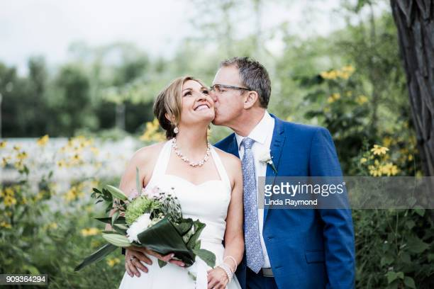 newlyweds kissing - newlywed stock pictures, royalty-free photos & images