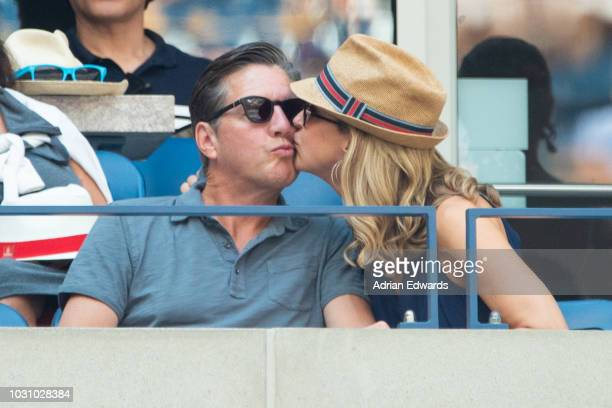 Newlyweds Richard M McVey and Lara Spencer attend Day 9 of the US Open held at the USTA Tennis Center on September 4 2018 in New York City