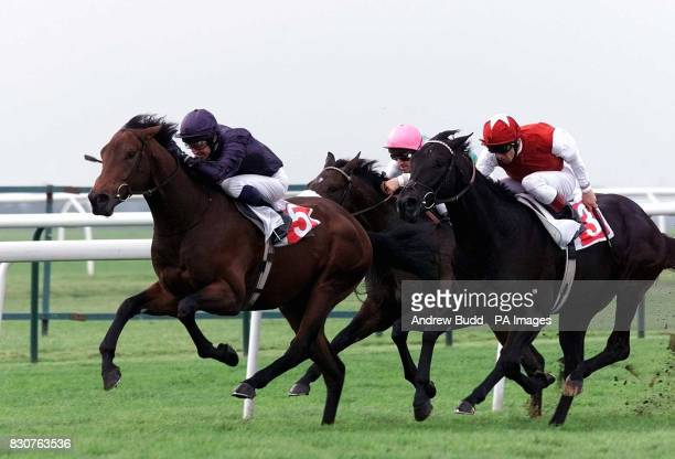 Newmarket Races The Heathavon Stud Houghton Conditions stakes Century City wins with Mick Kinane
