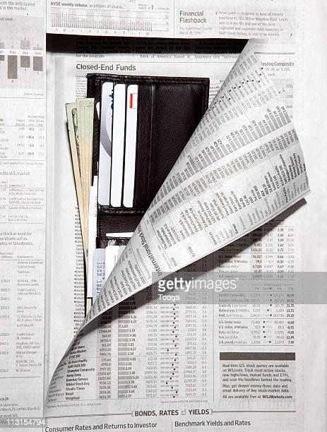 Newpaper revealing men's wallet